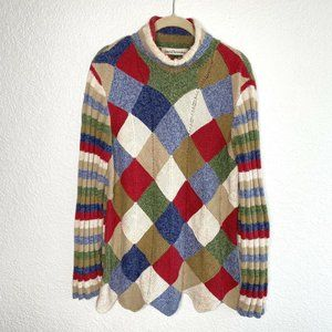 David Brooks Knitted By Hand Turtleneck Sweater